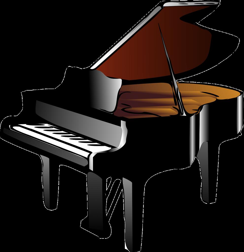 piano, grand piano, baby grand piano