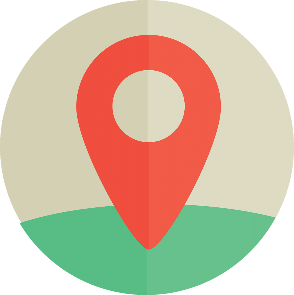 the location of the, map, where